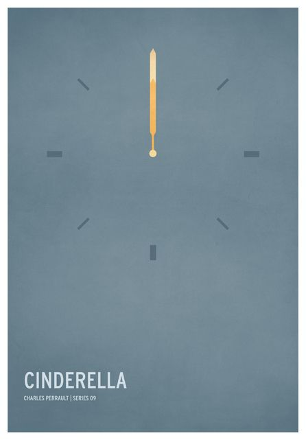 Cinderella / 19 Minimalistic Posters Of Your Favorite Childhood Stories by Christian Jackson (via BuzzFeed)