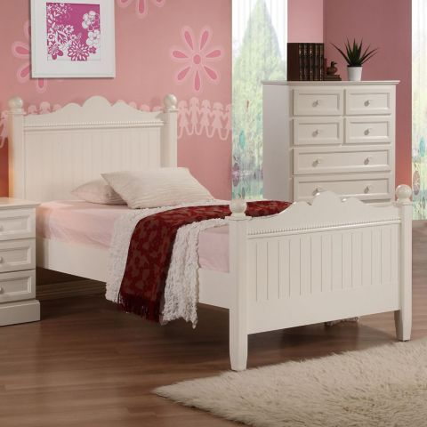 Tesco direct: Princess Single Bed - White