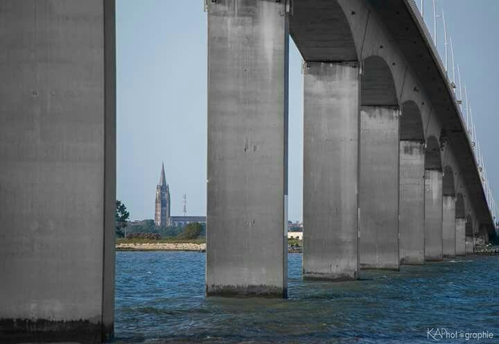 Pont de la Seudre, église de Marennes -  KAPhotographie