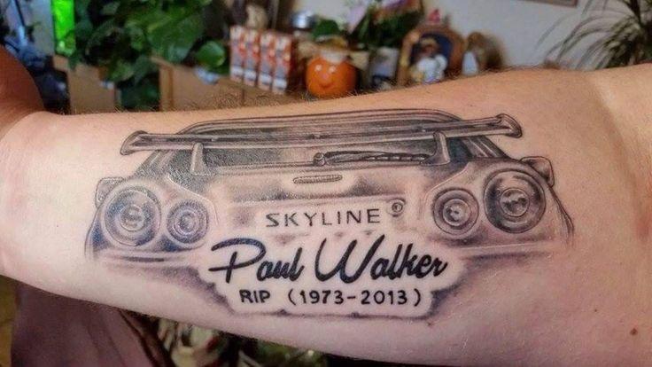 Tattoo Paul Walker Rip