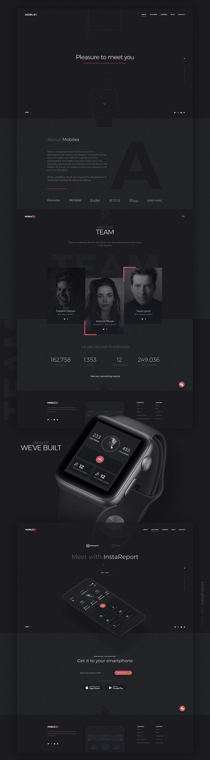 Website creation for Mobilex on Behance