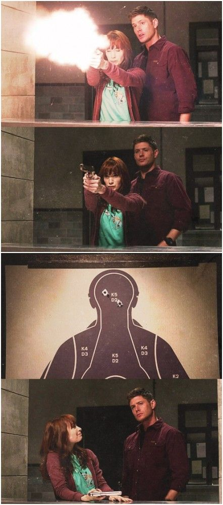 Don't mess with Charlie Bradbury for she can shoot you in the head twice with her eyes closed.