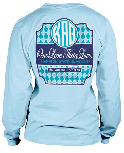 kappa alpha theta long sleeve comfort color t shirt with