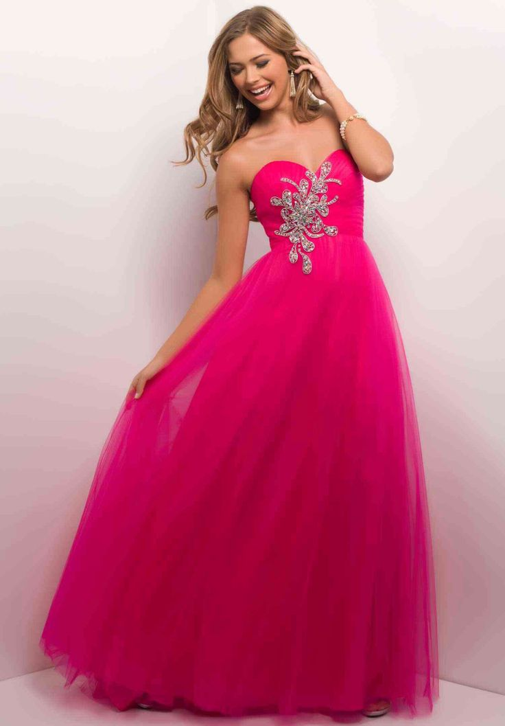 Hot Pink Butterfly Prom Dresses