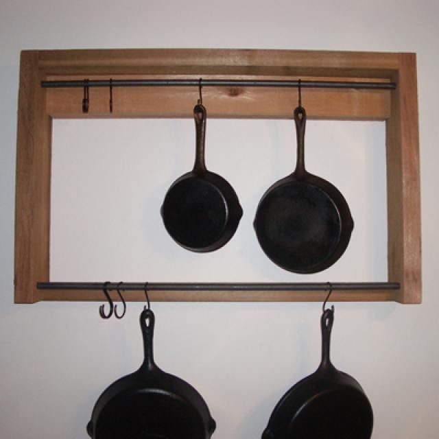 Download These Free Rustic Pot Rack Woodworking Plans: Download the Free Woodworking Plans