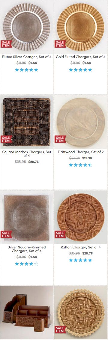 16 Best Charger Plates Images On Pinterest Charger