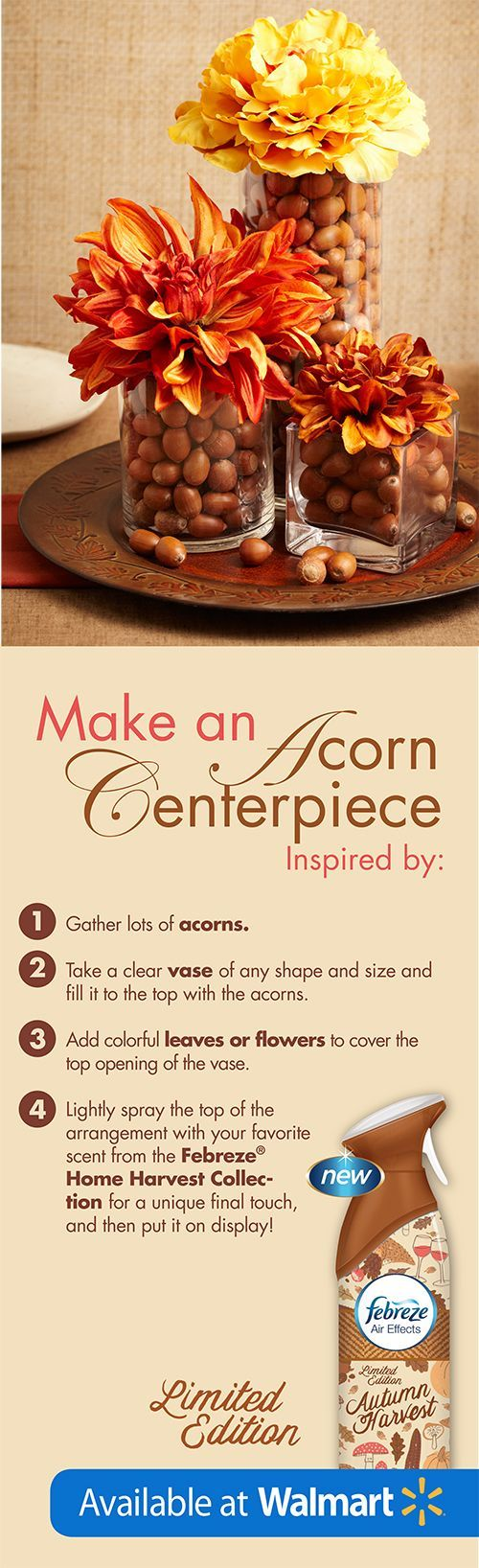 The perfect fall centerpiece in just 4 easy steps!