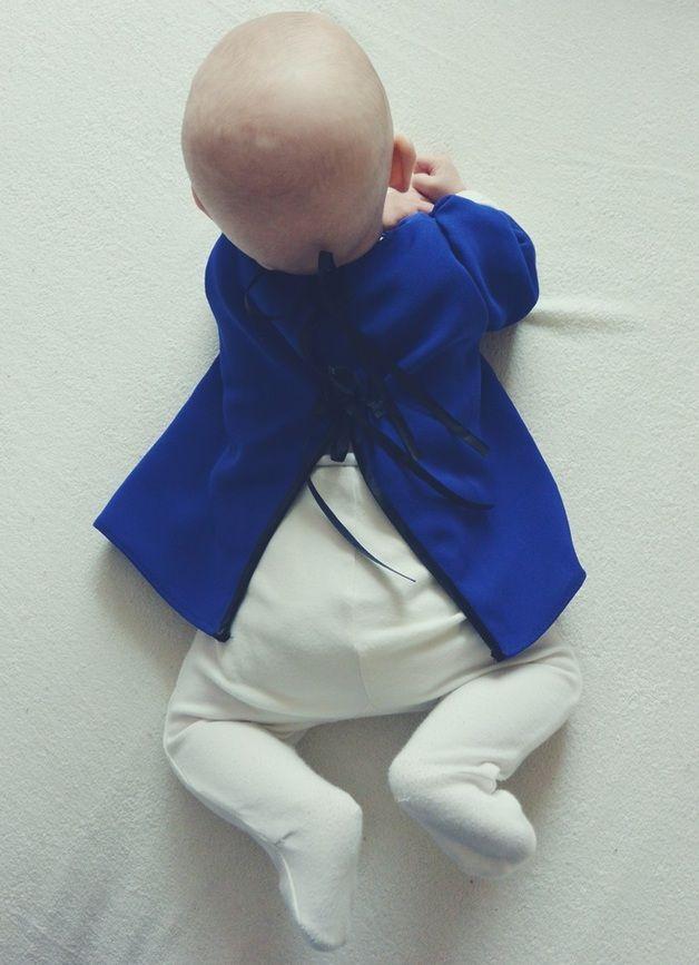 kobaltowa bluzeczka - Gosia-Lisowska - Ubranka dla niemowląt