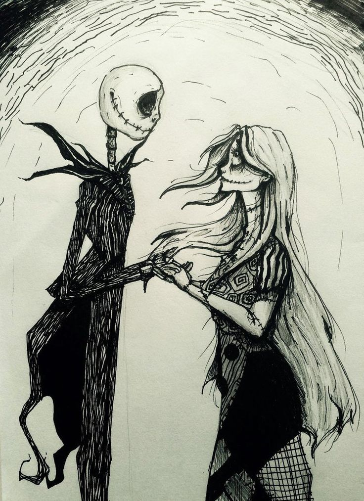 Jack and Sally by WillowingTrees.deviantart.com on @DeviantArt