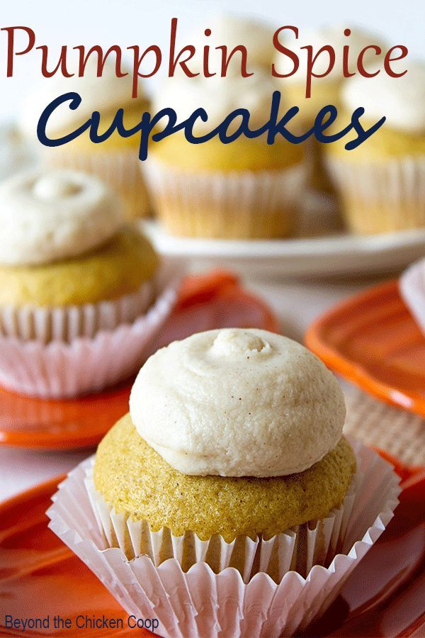 All the delicious spices of fall baked into the cupcakes and sprinkled in the bu...