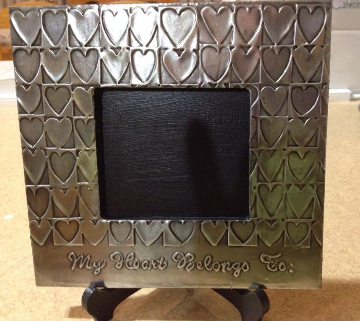 Pewter picture frame by Heather van den Bergh