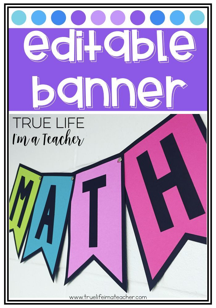 Create a banner for your classroom using ZERO colored ink!