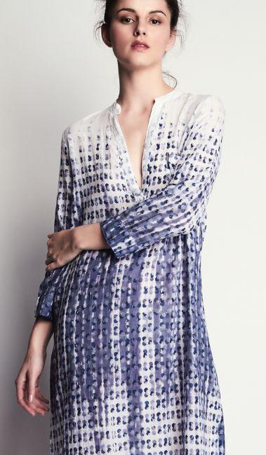Vestido de algodón estampado