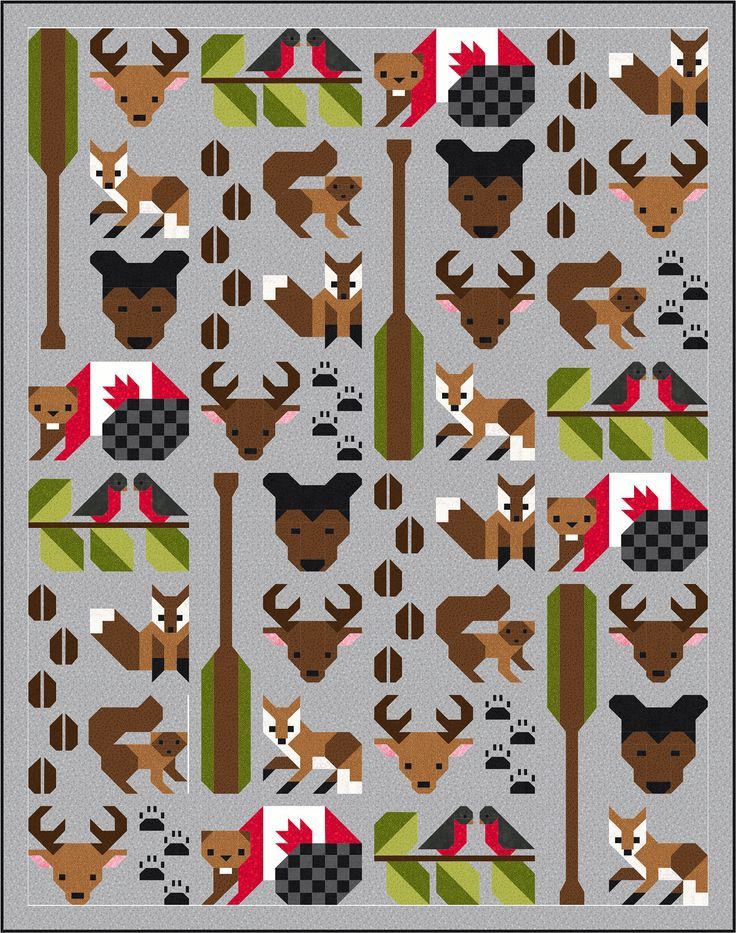 Forest Friends Quilt Pattern, PDF, Instant Download