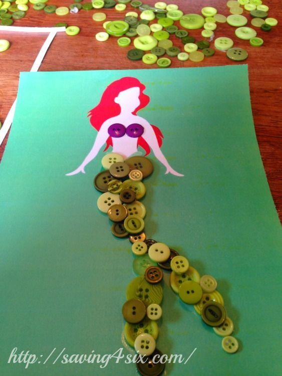 Disney Princess Button Art