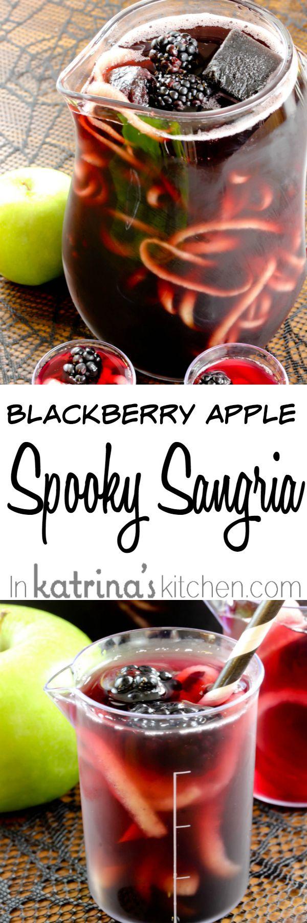 Blackberry Apple Spooky Sangria Recipe