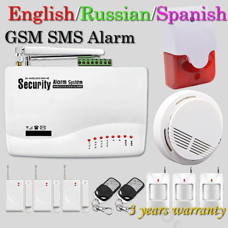 Free Shipping Wireless GSM Home Security Alarm System Smoke Detector 433MHz Door Open Magnetic Movement Detector Hot Selling
