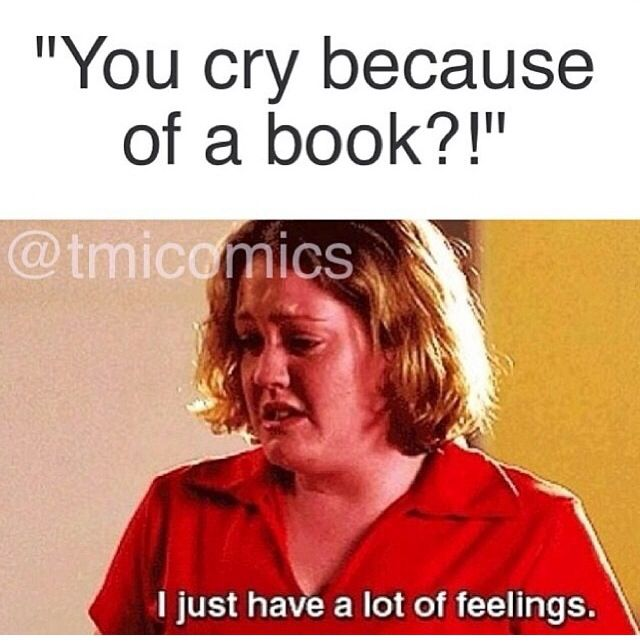 Lol!!! So me! I cry at books and movies and songs lol