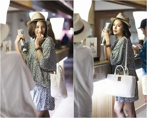 Park Si yeon, aiport fashion in Hawaii