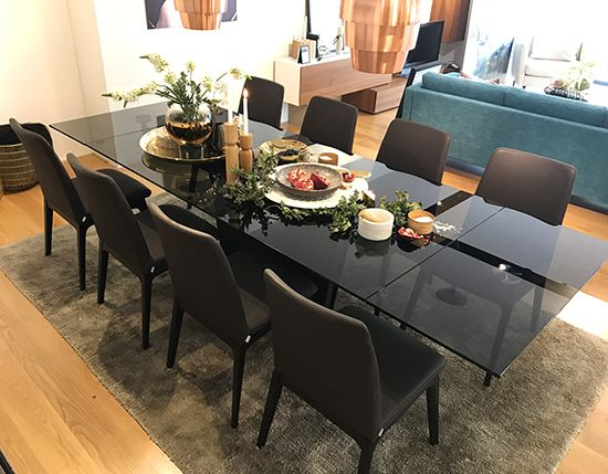 Glass Extendable Dining Table Sydney Monza