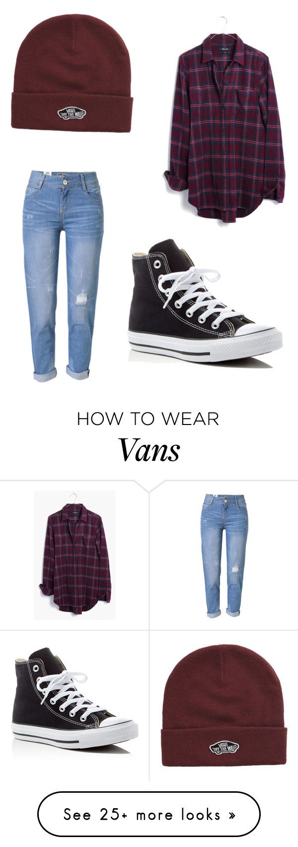 """""""tomboy look!"""" by ayeitspaige on Polyvore featuring WithChic, Madewell, Converse and Vans"""