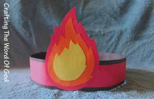 All the kids should make these in Big Group! We can sit around with fire on our heads (even if it's not Pentecost.)