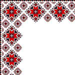 Куточок 3 - Ukranian embroidery corners Pisanki inspiration