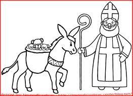 Saint Nicolas - Dessin à colorier