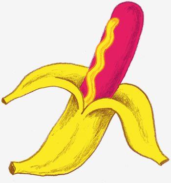 Banana Dog w/ Mustard