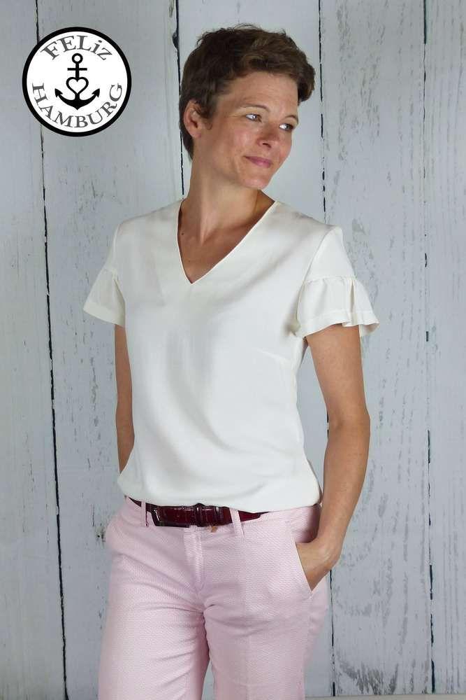9bcc316f6d374c Schnittmuster / Ebook lillesol woman No.35 Volant-Bluse / Nähen Bluse /  Damen
