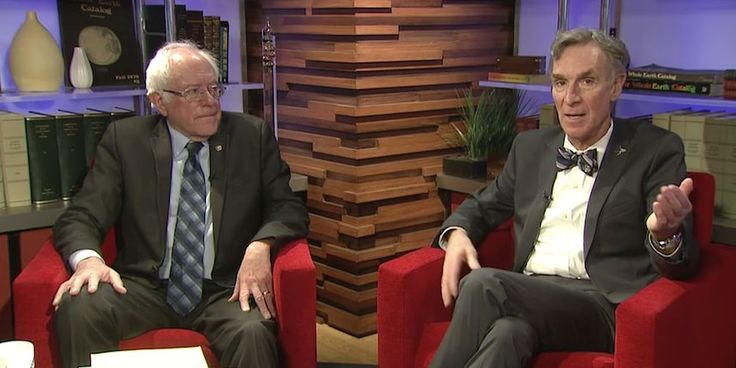 Sen. Bernie Sanders sat down with scientist and TV personality Bill Nye to discuss climate change.
