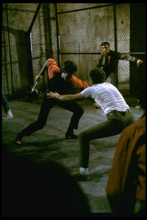 """West Side Story"" (1961). Bernardo (George Chakiris) and Riff's (Russ Tamblyn's)   knife fight."