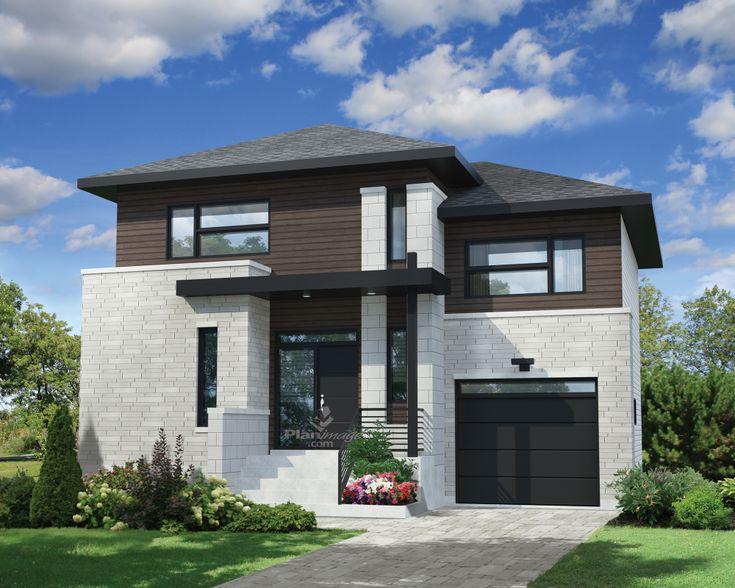 63 best Maison images on Pinterest Modern homes, Modern townhouse - plan d une maison simple
