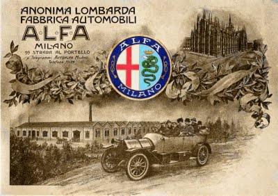 Alfa Romeo factory - artwork Anonima Lombarda Fabbrica Automobili (ALFA)