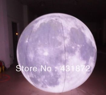 inflatable helium moon with light inside for sale of FREE SHIPPING
