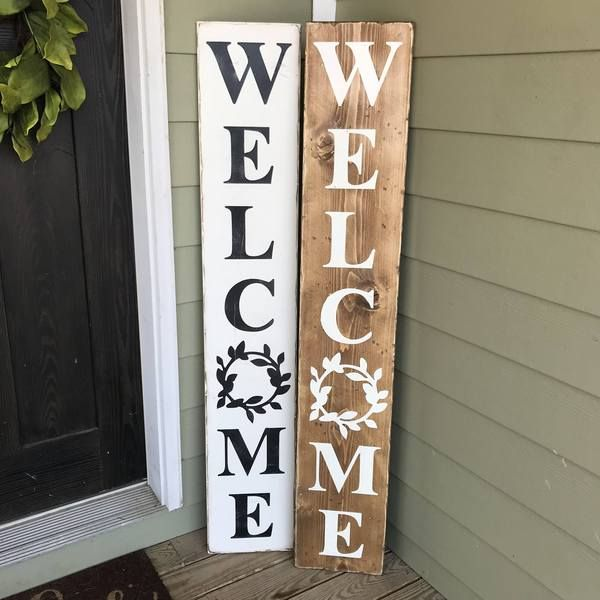 Welcome Sign Wood Sign Porch Welcome Sign Wooden Welcome Signs Welcome Wood Sign