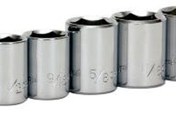 A socket set helps to size the metal bends.