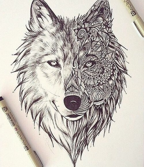 wolf tattoo tumblr - Google Search