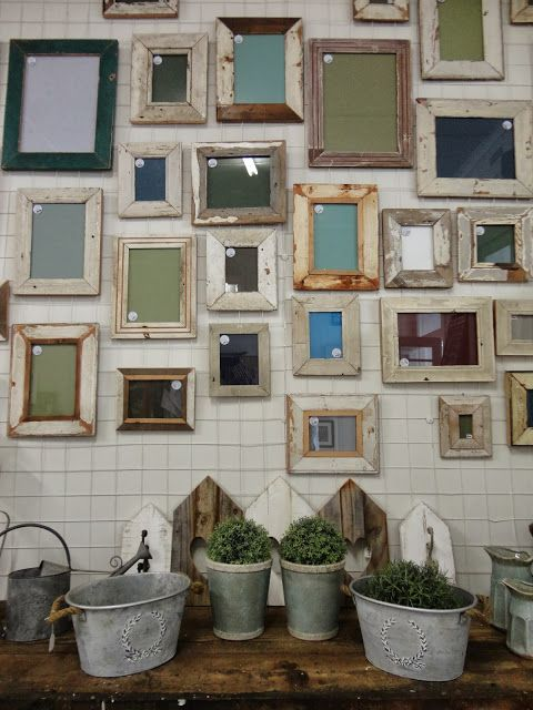 From demolition sites to our walls... Rustic frames gallery wall