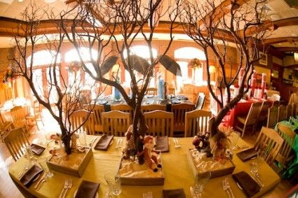 Lion King inspired centerpieces for the dining tables, each dining table would only have one of the centerpiecs on it.