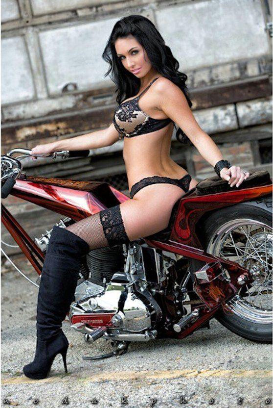 phat ass biker babe