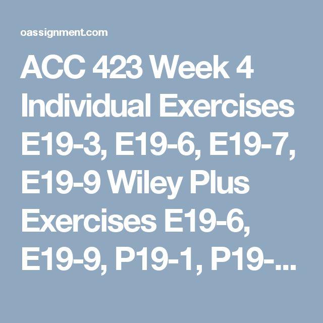 acc 291 week 3 wiley plus exercises .