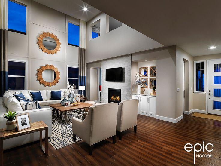 Ascend Model Grand Room - 3328 sq ft. Model - Epic Homes, Leyden Rock, Arvada Colorado