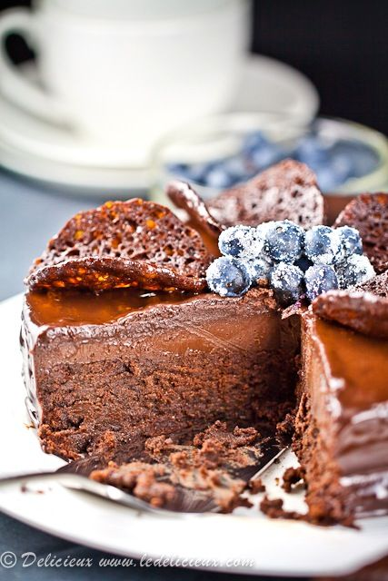Death By Chocolate Cake (Black Dahlia Cake) will have to try sometime - get ready for a funeral - haha