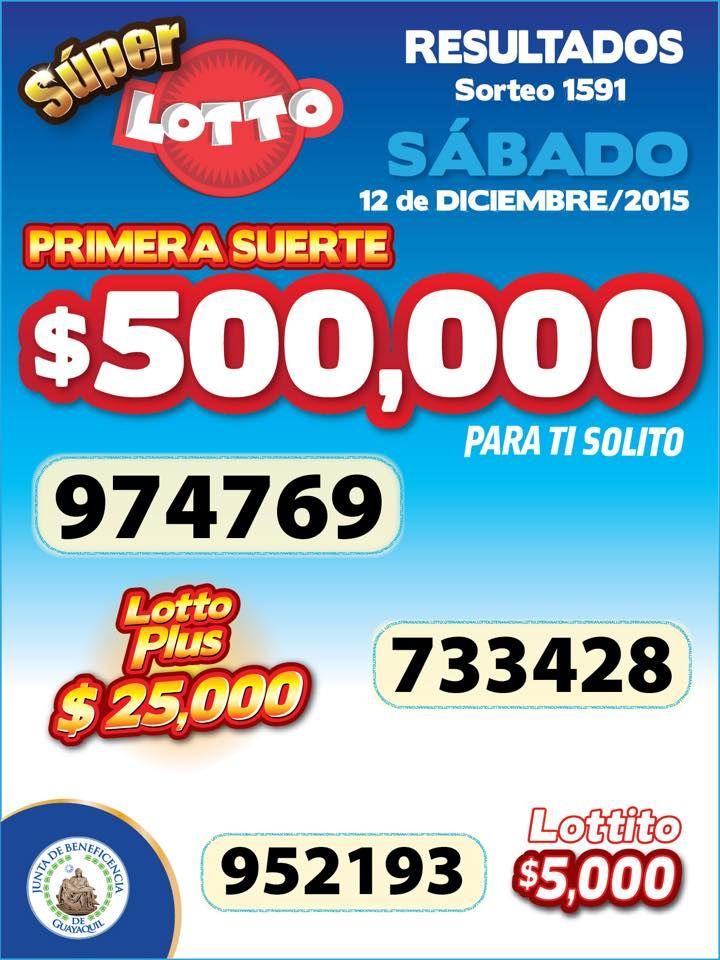 Resultados Sorteo Super Lotto del Sabado 12/12/15. http://wwwelcafedeoscar.blogspot.com/2015/12/sorteo-super-lotto-resultado.html