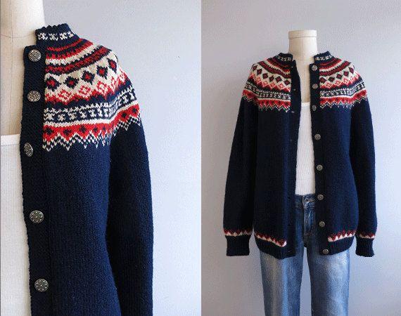 Label: Husfliden, Handknitted in Norway  100% Wool Lillehammer. Husfliden 419