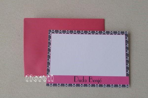 Cartão simples Damask Rosa  :: flavoli.net - Papelaria Personalizada :: Contato: (21) 98-836-0113 vendas@flavoli.net