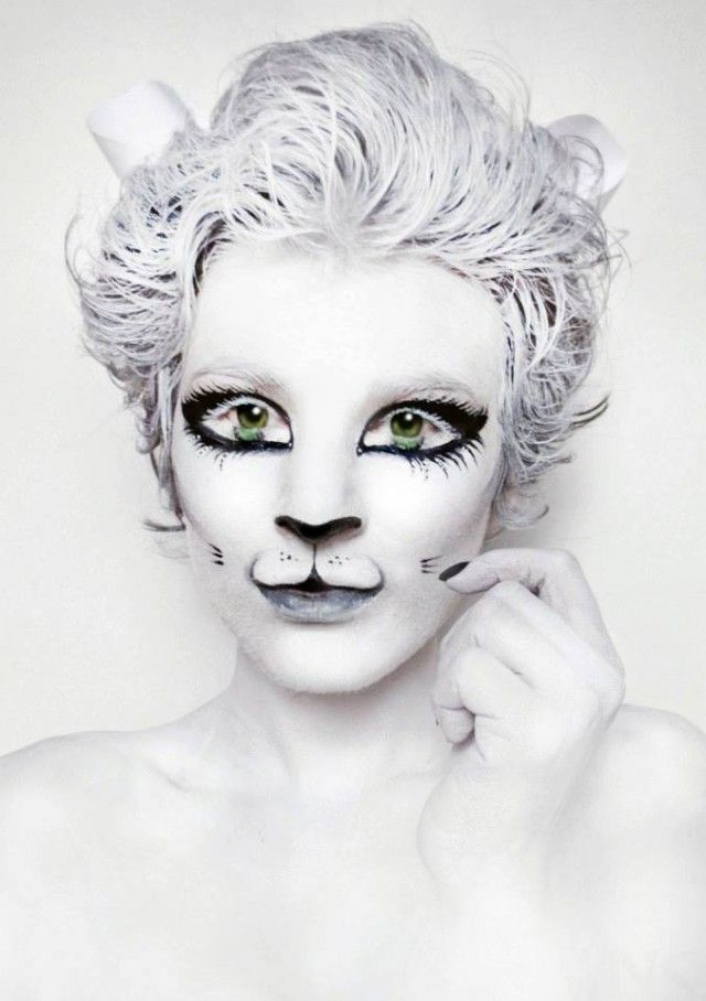 White Kitty Cat Body Paint – Natasha Kudashkina| Be Inspirational ❥|Mz. Manerz: Being well dressed is a beautiful form of confidence, happiness & politeness