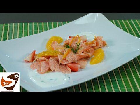 Carpaccio di salmone marinato agli agrumi - Speziata