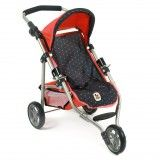 Chic Bayer Lola Pink And Navy Blue 3 Wheel Stroller $60